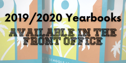 Pick up your 2019/2020 Yearbook!